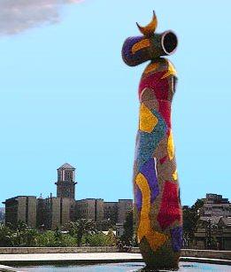 One of Miro's last sculptures, Woman and Bird, in Park Joan Miro