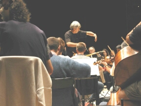 Ile de France orchestra rehearses for a concert