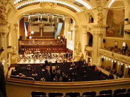 The Obecni dum concert hall bristles with the excitement of an imminent concert