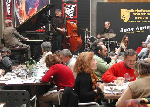 Fun breaks out easily when jazz performers create new grooves in one of Orvieto's many venues.