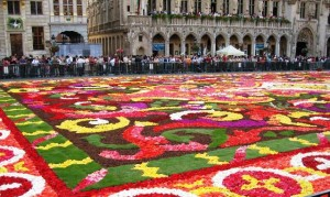 An exquisite carpet of flowers covers Brussels Grand Place
