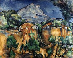 Cezanne's Montagne-Sainte Victoire, a storm scene just north east of Aix-en-Provence