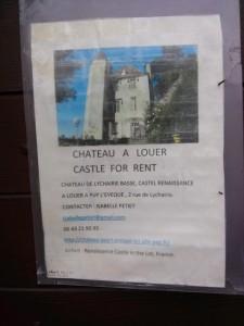 03291501 castle for rent