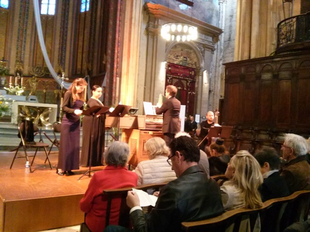 04071502 tonights concert in cathedral led by harpsichord