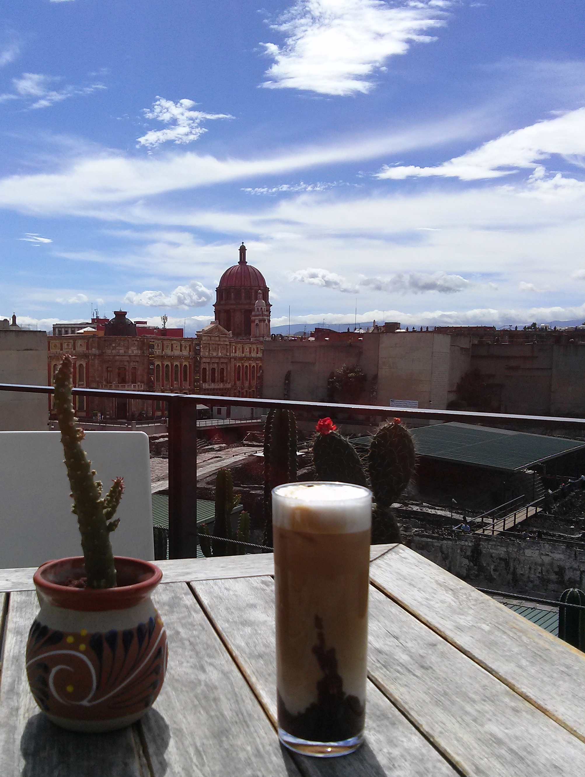 10241502 then round the ruins to El Mayor for coffee with a view